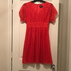 Red Adrianna Papell Lace Dress